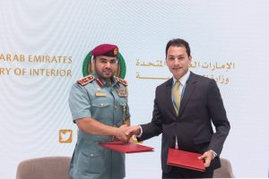 HE Brigadier Eng. Hussein Al Harthi, Director General of Electronic Services at the UAE Ministry of Interior; and Rami Kichli, Vice President Software AG, Gulf & Levant